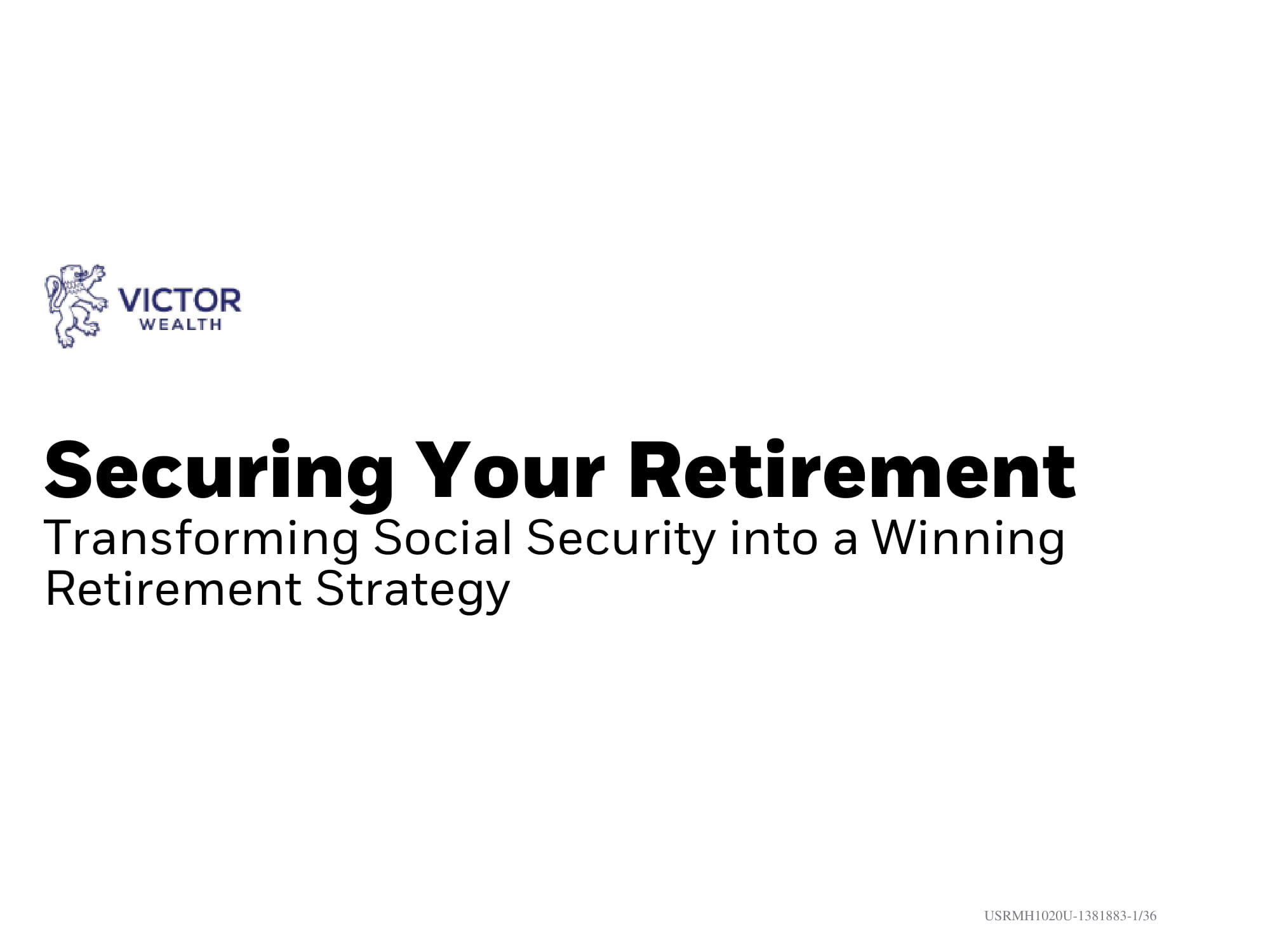 Securing Your Retirement Guide