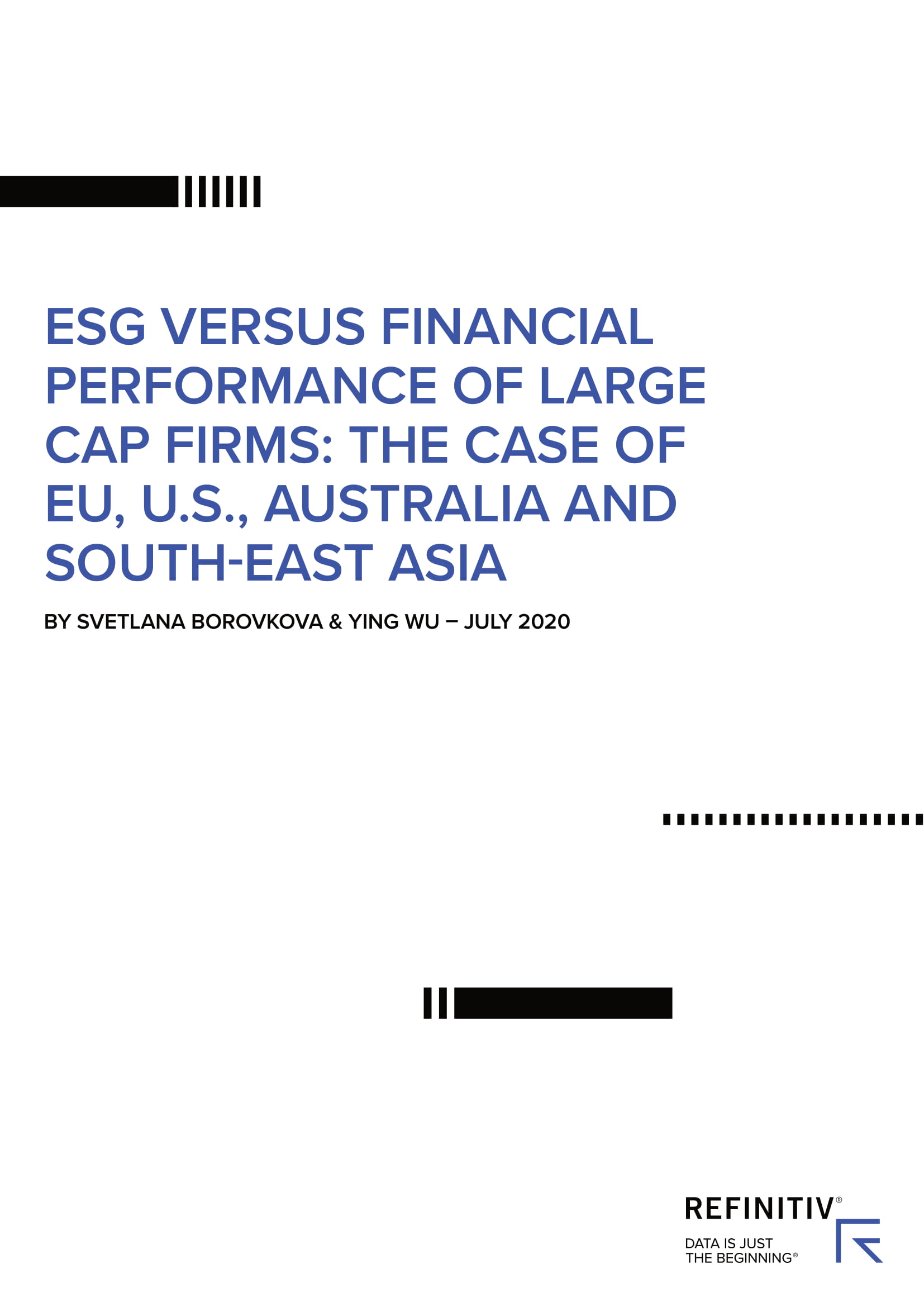 ESG vs Financial performance of large cap firms 01